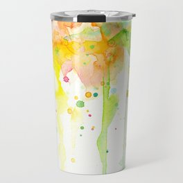 Rainbow Watercolor Pattern Texture Travel Mug