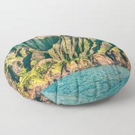 2016 Na' Pali Coast, Kauai, Hawaii Floor Pillow