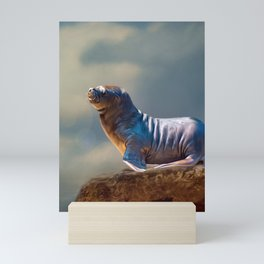 South American sea lion cub Mini Art Print