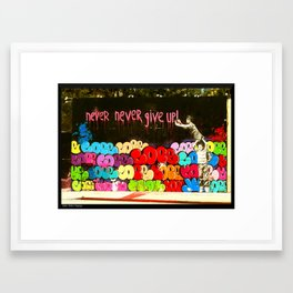 Cope Never Give Up! Framed Art Print