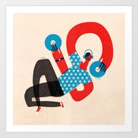 dj Art Prints featuring DJ by Keith Negley