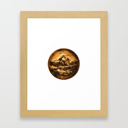 Wood-burn Wanderlust Framed Art Print