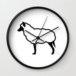 The Wolf in Sheep's Clothing Wall Clock
