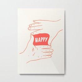 Focus on Happy Metal Print