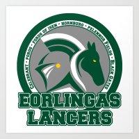 Eorlingas Lancers Art Print