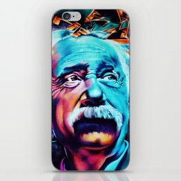 Urban Street Art: Albert Einstein Wall Mural iPhone Skin