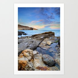 """Volcanic sea"". Cabo de Gata. Art Print"