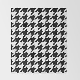 Classic Houndstooth Pattern Throw Blanket