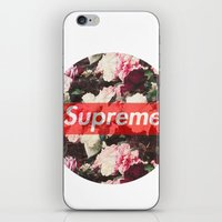 supreme iPhone & iPod Skins featuring Supreme Circle  by Massero Project