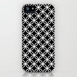 Black and white interlocking circles iPhone Case