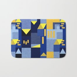 Blue Klee houses Bath Mat