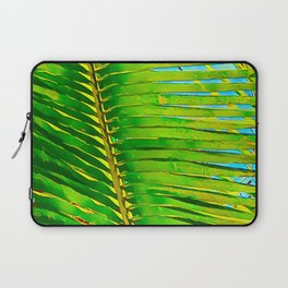 Coconut Frond in Green Aloha Laptop Sleeve