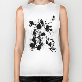 Ink spattered all over - Pattern #society6 #lifestyle Biker Tank