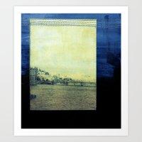 bridge Art Prints featuring Bridge by Neelie