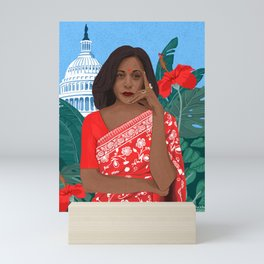 Kamala Aunty in Washington Mini Art Print