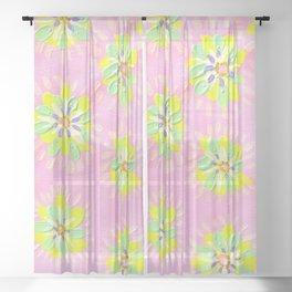 Neon Petal Rose Sheer Curtain
