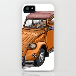 Orange 2CV iPhone Case