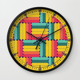 Soft spheres pattern Wall Clock