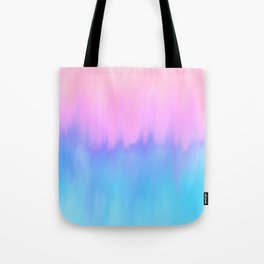 Elegant teal lavender pink watercolor brushstrokes ikat Tote Bag