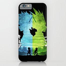 Minimalist Silhouette Gon & Killua iPhone Case
