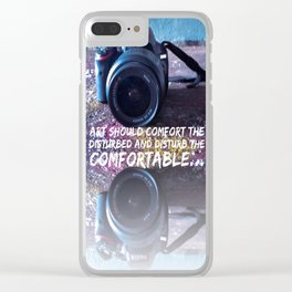 Comfort the Disturbed Clear iPhone Case