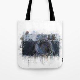 retro camera drawing - illustration / painting 1 Tote Bag