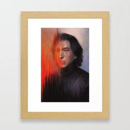torn apart. Framed Art Print
