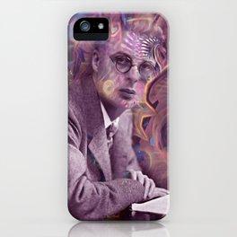 Aldous Huxley Digital Painting iPhone Case