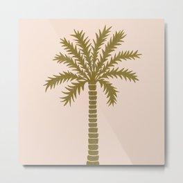 Gold Palm Tree Metal Print