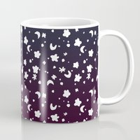 starry night Mugs featuring Starry Night by Oh Monday