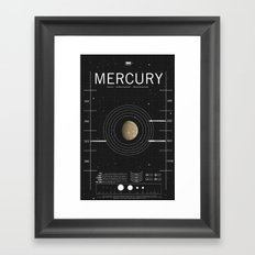 OMG SPACE: Mercury 1970 - 2010 Framed Art Print