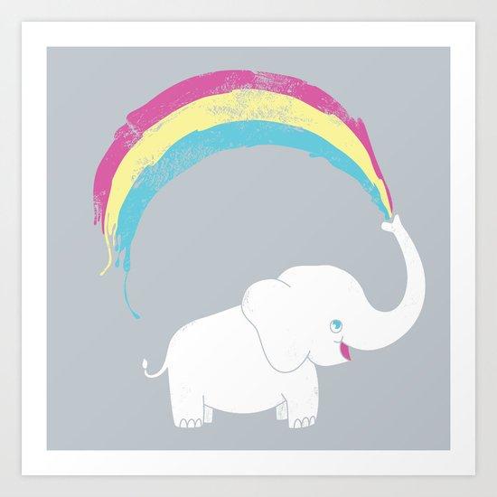 Elephant Painting! Art Print
