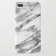 Carrara marble iPhone 7 Plus Slim Case
