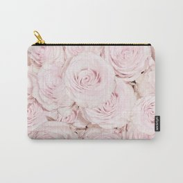 Roses have thorns - Floral Flower Pink Rose Flowers Carry-All Pouch