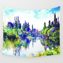 Claude Monet - Morning on the Seine, near Vetheuil 1878 Wall Tapestry