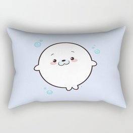 Baby Seal Kawaii Rectangular Pillow