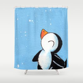 Flakey Flurry Shower Curtain