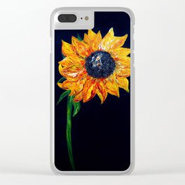 Sunflower Outburst Clear iPhone Case