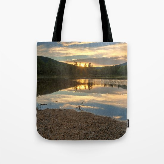 Lily Pond Sunset Tote Bag