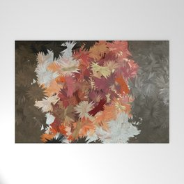 Autumn Feathers Welcome Mat