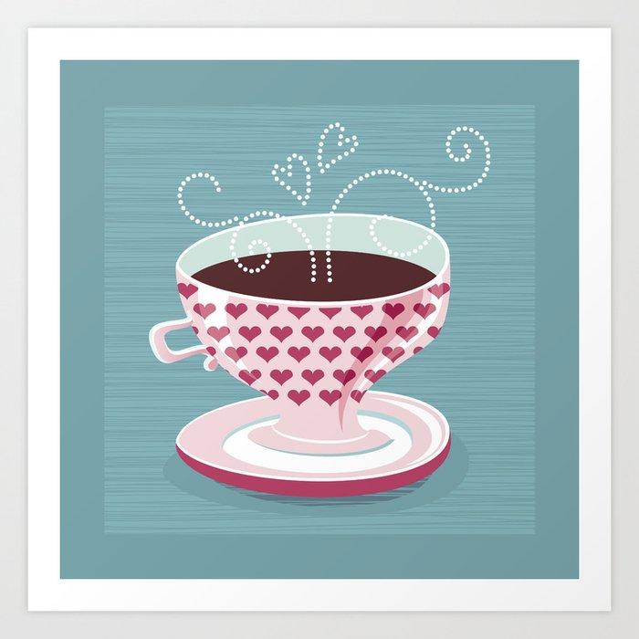 Romantic Coffee  (Tea) Art Print