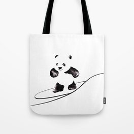 Surfing Panda Tote Bag