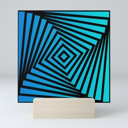 Squares twirling from the Center. Optical Illusion of Perspective bu Squares twirling Mini Art Print