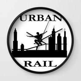 URBAN RAIL Wall Clock