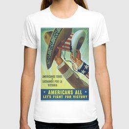 World War Two US Propaganda Poster T-shirt