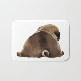 Pug Butt Bath Mat
