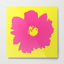 Pink Peony (Yellow) Metal Print