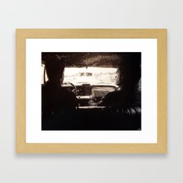 Supernatural: Black & White Backseat Framed Art Print