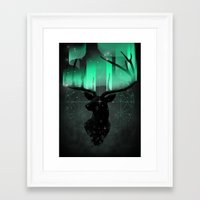 northern lights Framed Art Prints featuring Northern Lights by angrymonk