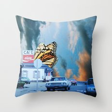 Butterfly Way Throw Pillow